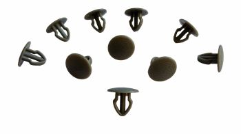 T25 Door Panel Clips, Set of 10, Dark Grey.  251-867-299 6AW