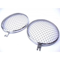Vintage Style Headlight Grilles, Pair, Stainless >67