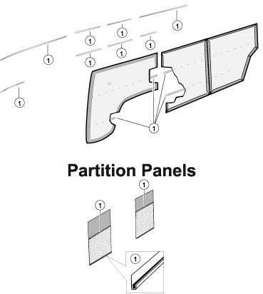 Door Panel Trim Kit, Fits Walk-Thru Mar '61 - Mar '63. 221-853-002A