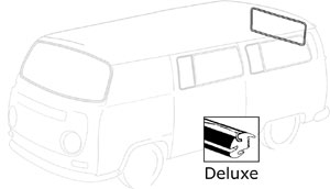 Rear Window Aluminum Trim, 68-79. 241-853-355