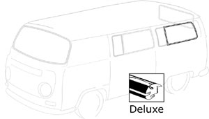 Deluxe Rear Side Window Seal, 68-79. Fits Vans With Vent Window. 241-845-343BB