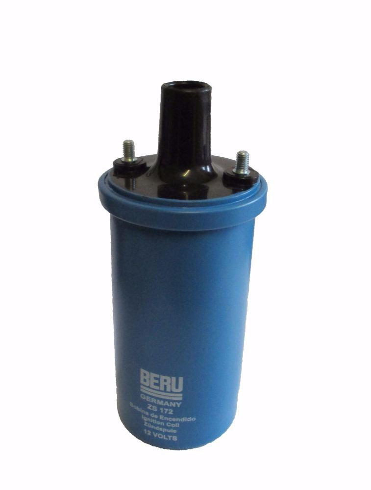 Ignition Coil 12v Beru Blue, Oil Filled, 68-79. 043-905-115CB