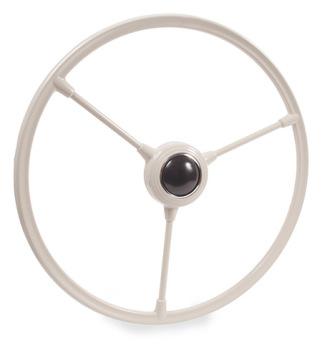 Barndoor Steering Wheel w/Horn Push, Silver/Beige 50-55.   211-415-651SB