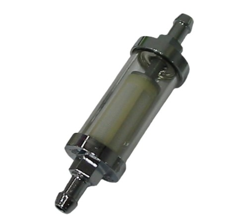 Fuel Filter Chrome & Glass/Perspex 5-6mm  AC133000