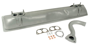 Exhaust Silencer Kit, incl Tailpipe & Fitting Kit 1.7-2.0L 72-79.   021-298-053