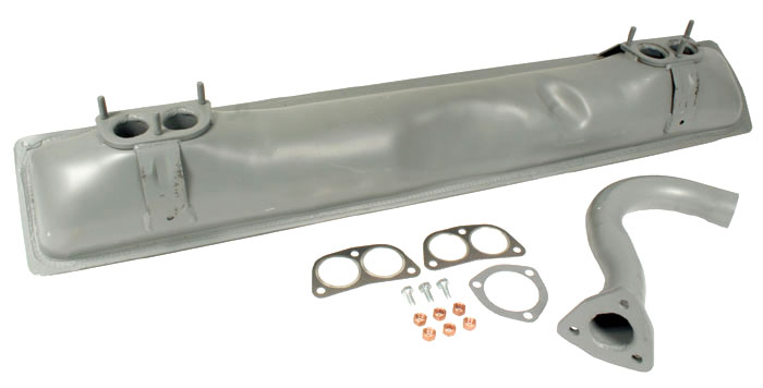 Exhaust Silencer Kit, incl Tailpipe & Fitting Kit 1.7-2.0L 72-82.   021-298