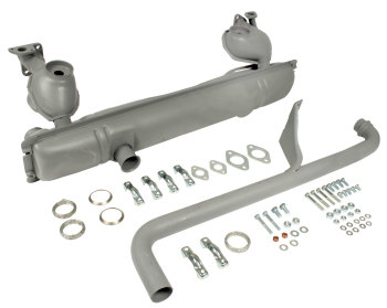 Exhaust Silencer Kit 76-79 (1-Piece Tail Pipe Version) 211-251-051LTKIT