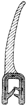 Draught Excluder Seal, Sold Per Meter. All Years 50-92