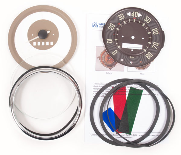 Speedometer Repair Kit 63-67, 80mph.   211-957-005