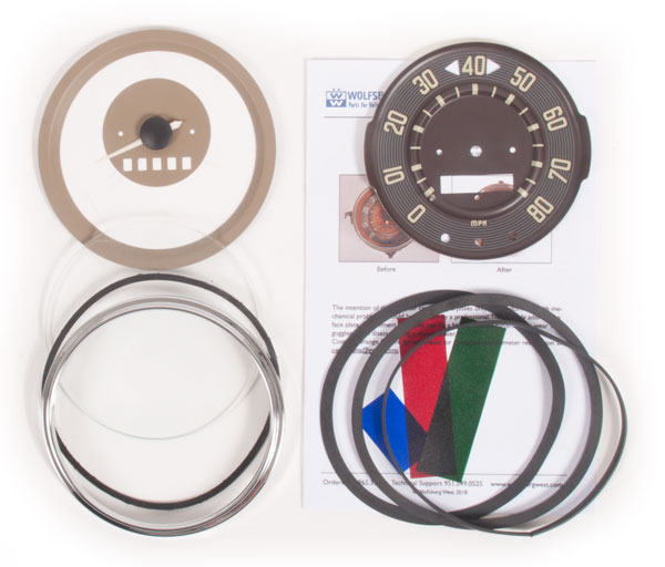 Speedometer Repair Kit 61-62, 80mph.   211-957-004