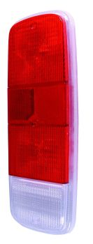 Rear Light Lens Red, Red & Clear 72-79.   211-945-241RR