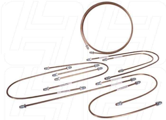 Copper Brake Pipe Kit LHD w/Servo 70-79.   211-698-502C