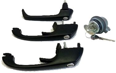 Door Lock Set, LHD, Genuine VW  85-92.   SCH020L