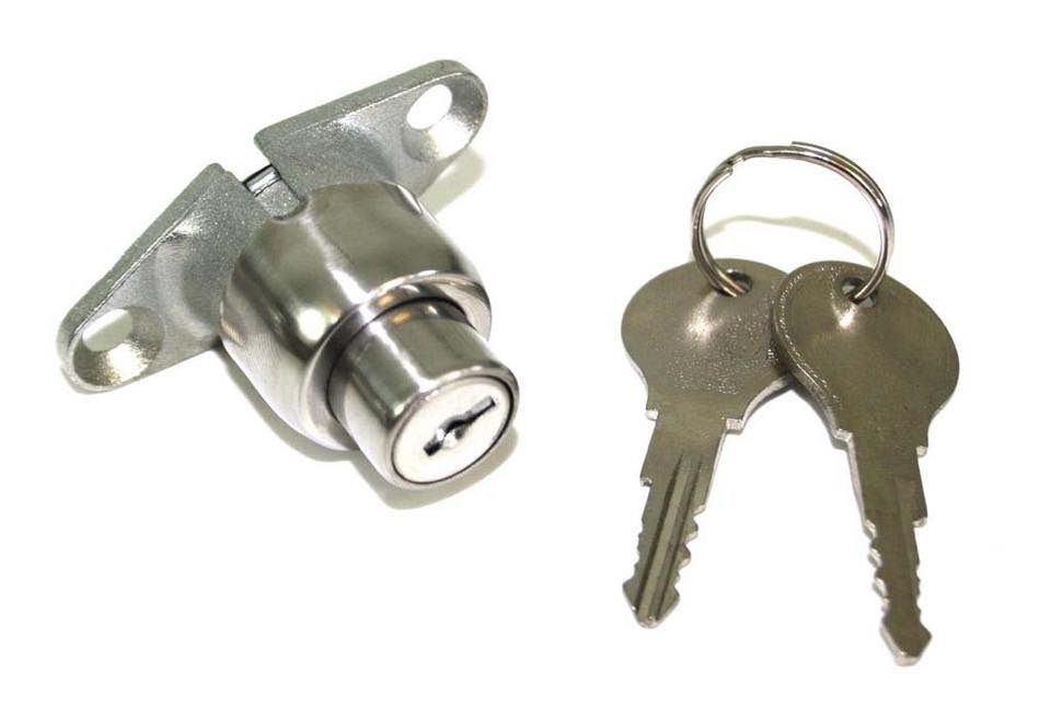 Tailgate Lock, Top Quality, 64-66, Stainless.   211-829-231C