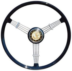 Flat 4 Banjo Steering Wheel, Black w/Boss, Top Quality 55-67.   AC400I235A