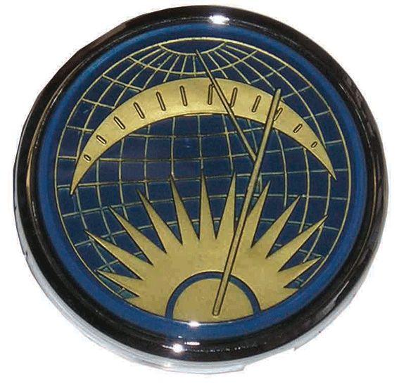 Flat 4 'Sun and Moon' Banjo Steering Wheel Horn Push 55-67.   AC400I246A