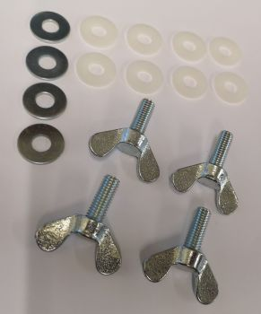 Front Safari Window Wing Bolt Kit.   SCHBB025
