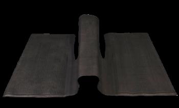 Floor Mat, Rear, Black, over-the-tunnel type 1960-1972 Beetle.   113-863-717C