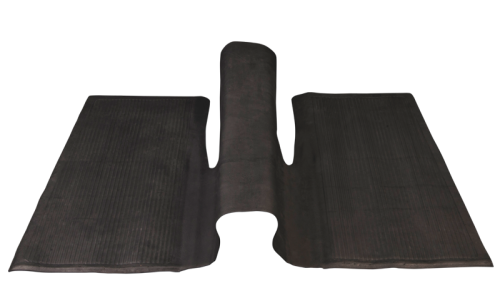 Floor Mat, Rear, Black, over-the-tunnel type 1960-1972 Beetle.   113-863-71