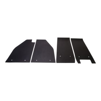 Floor Mats, Black, Set of 4, 55-59 Beetle.   111-863-002