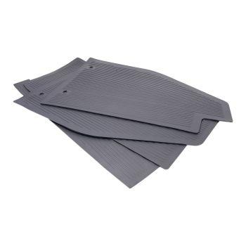 Floor Mats, Grey, Set of 4, 55-59 Beetle.   111-863-002GY