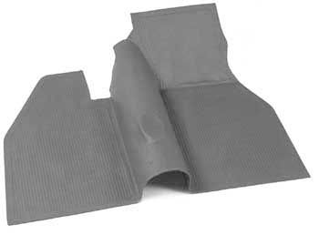 Floor Mat, Front, Grey, over-the-tunnel type, 60-67 Beetle.   113-863-703AGY