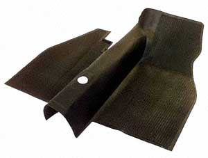 Floor Mat, Front, Black, over-the-tunnel type, 73-79 Beetle.   113-863-703T