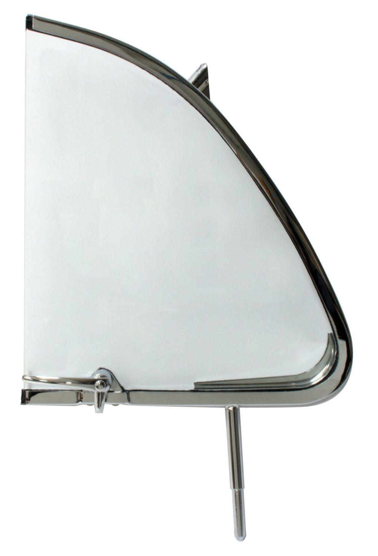 Cab Door Quarter Light, Left 55-64 Beetle, Top Quality.    113-837-605A