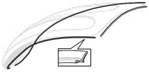 Front Bonnet Seal 49-61 Beetle.   113-823-731A