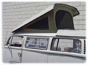 Westfalia Roof Canvas, Tan (Front Hinged) 68-73.   231-070-705T