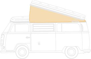 Westfalia Roof Canvas, Tan (Rear Hinged) 74-79.   231-070-705OT