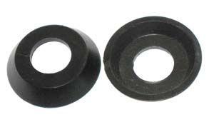 Inner Cab Door Handle Collar, Black. 60-66. 211-837-235BK