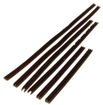 Felt Channel Kit (Pair) For Sigla Glass, Top Quality 59-61.  211-898-380A