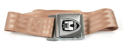 2-Point Seat Belt , Almond , Chrome buckle 50-67 ZVW20CRAL
