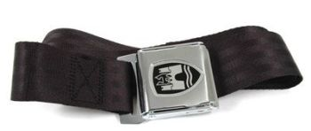 2-Point Seat Belt, Black, Chrome Buckle 50-79.   ZVW20CRBK