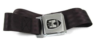 2-Point Seat Belt, Black, Chrome Buckle 50-67.   ZVW20CRBK