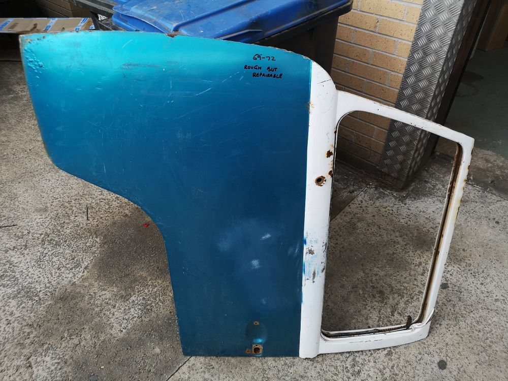 Used Cab Door 69-72 Left Side, Rough but Repairable.