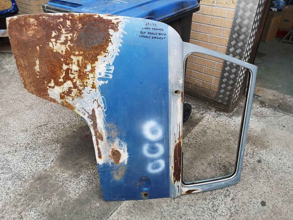 Used Cab Door 69-72 Left Side, Good Solid Door