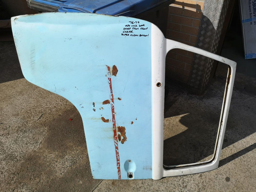 Used Cab Door 76-79, Left Side, Very Solid