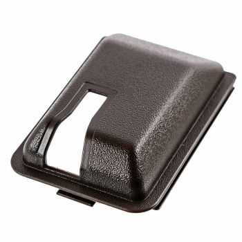 Sliding Door Interior Lock Mechanism Cover, 8/84-91, Brown.   255-843-698A