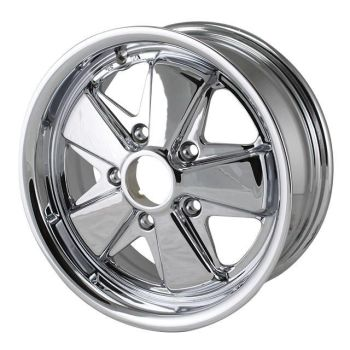 911 Style Deep 6 Wheel, Chrome 5x130. Fuchs   SCH9539-650