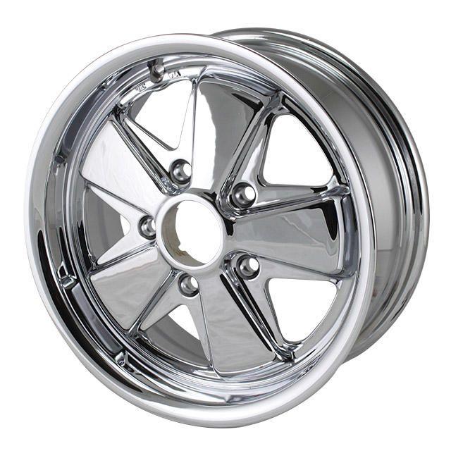 911 Style Deep 6 Wheel, Chrome 5x130. Fuchs   SCH9539-650