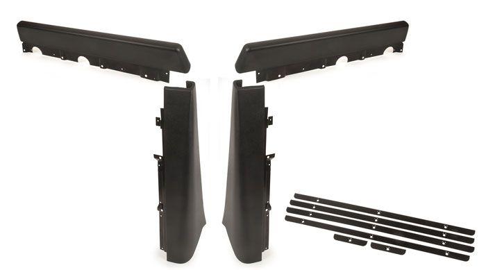 Walkthrough Seat Stand Partition Pad Set, 68-70, Black.   221-867-630