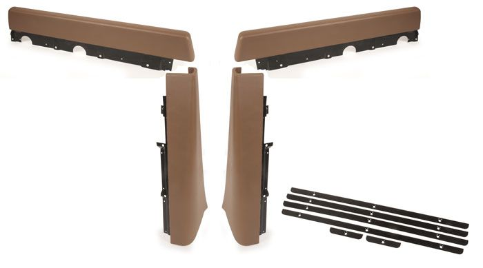 Walkthrough Seat Stand Partition Pad Set, 68-70, Brown.   221-867-630A