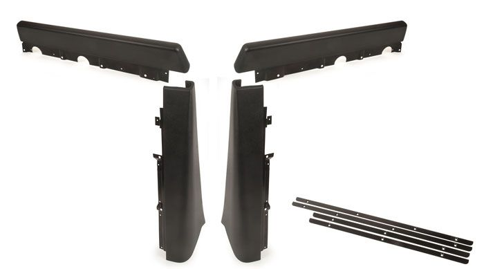 Walkthrough Seat Stand Partition Pad Set, 71-76, Black.   221-867-631