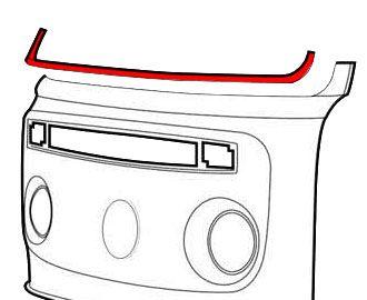 Front Panel Windscreen Repair Panels 3-Piece 68-79.   211-805-130