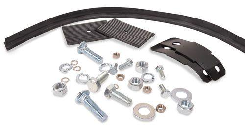 Rear Bumper Splash Pan Installation Kit Ribbed, Pair 55-58.   211-798-005P