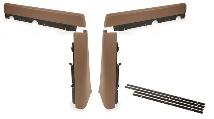 Walkthrough Seat Stand Partition Pad Set, 71-76, Brown.   221-867-631A