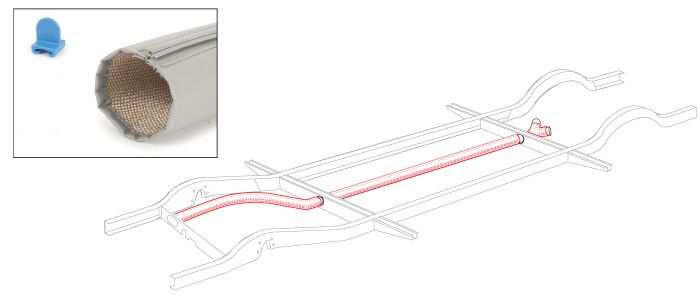 Heater Tube Insulation Wrap Kit 68-71.   211-255-900C