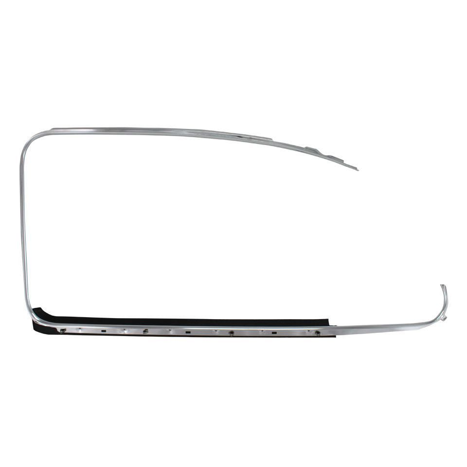 Cab Door Chrome Outer Scraper Trim, Right 64-79 Beetle.   113-853-322D